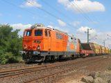 2143.026 RTS s pracovným vlakom vychádza z Hegyeshalomu