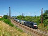 Vlak LTE so štyrmi rušňami na nákladnom vlaku
