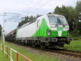Vectron 193.814 SETG odchádza z Bratislavy Petržalky s nákladom z Duslo Šaľa