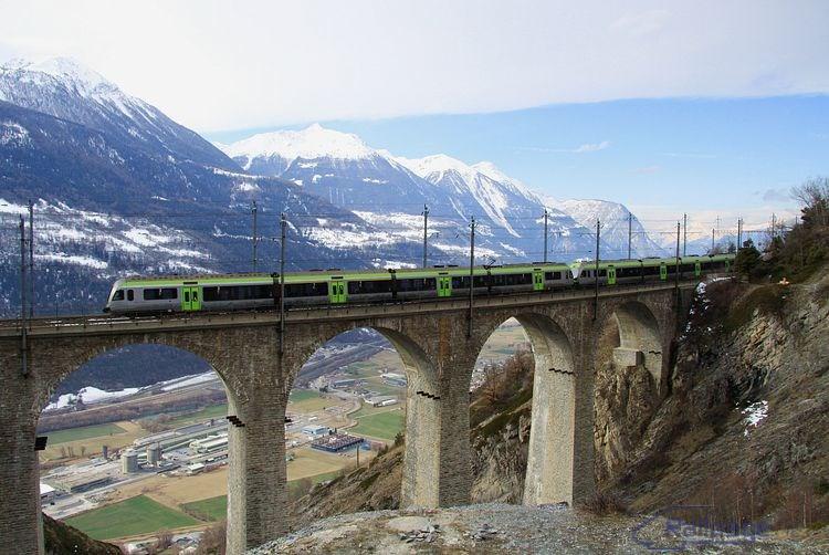 Luogelkin–Viadukt pri Hohtenne 26. februára 2014.