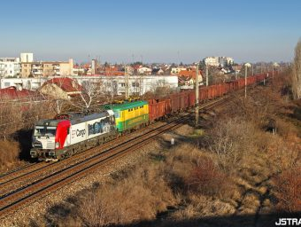 Vectron EP Cargo s vlakom PSŽ do Kútov