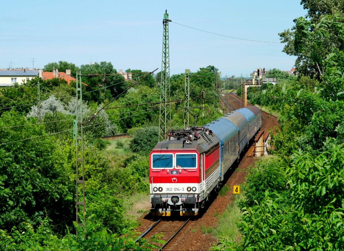 Snimok zachytava IC 505 Borsod v Budapest Kobanya. Autor: IHO.HU
