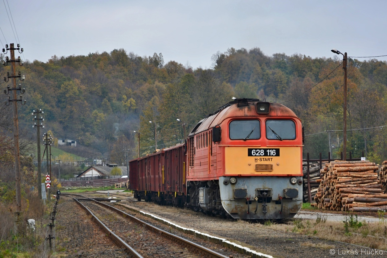 Obsluha nákladiště Mecsekjánosi Sergejem 628.116