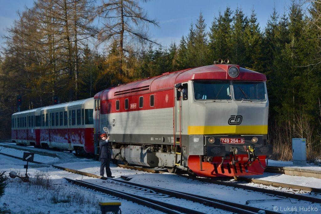 Výprava vlaku Sp 11807 z Čachnova do České Třebové