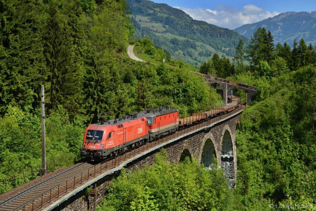 Nákladní vlak na Bad Gastein potěší vždy