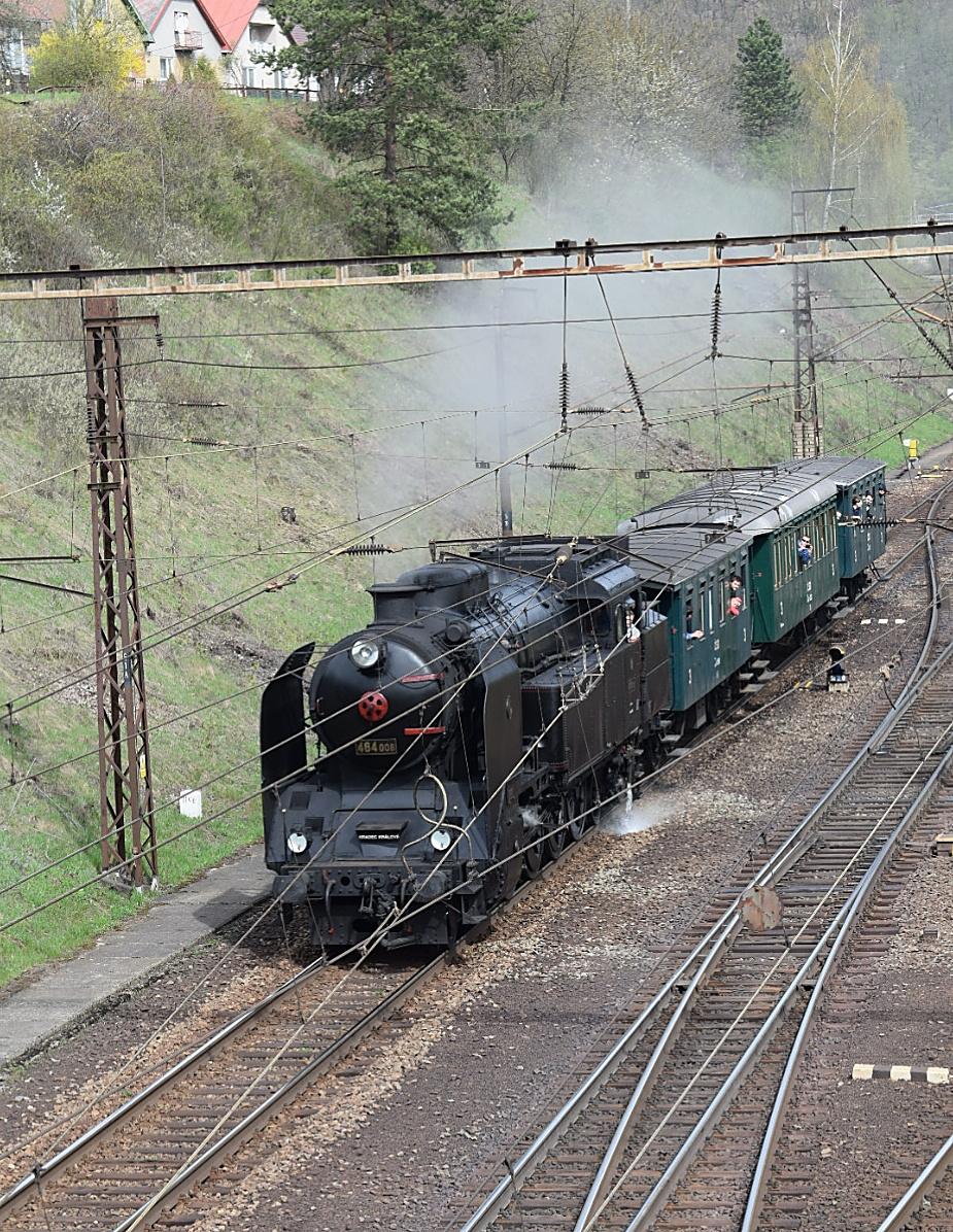 Parný vlak pred Kysakom. Autor: Miroslav Sándor