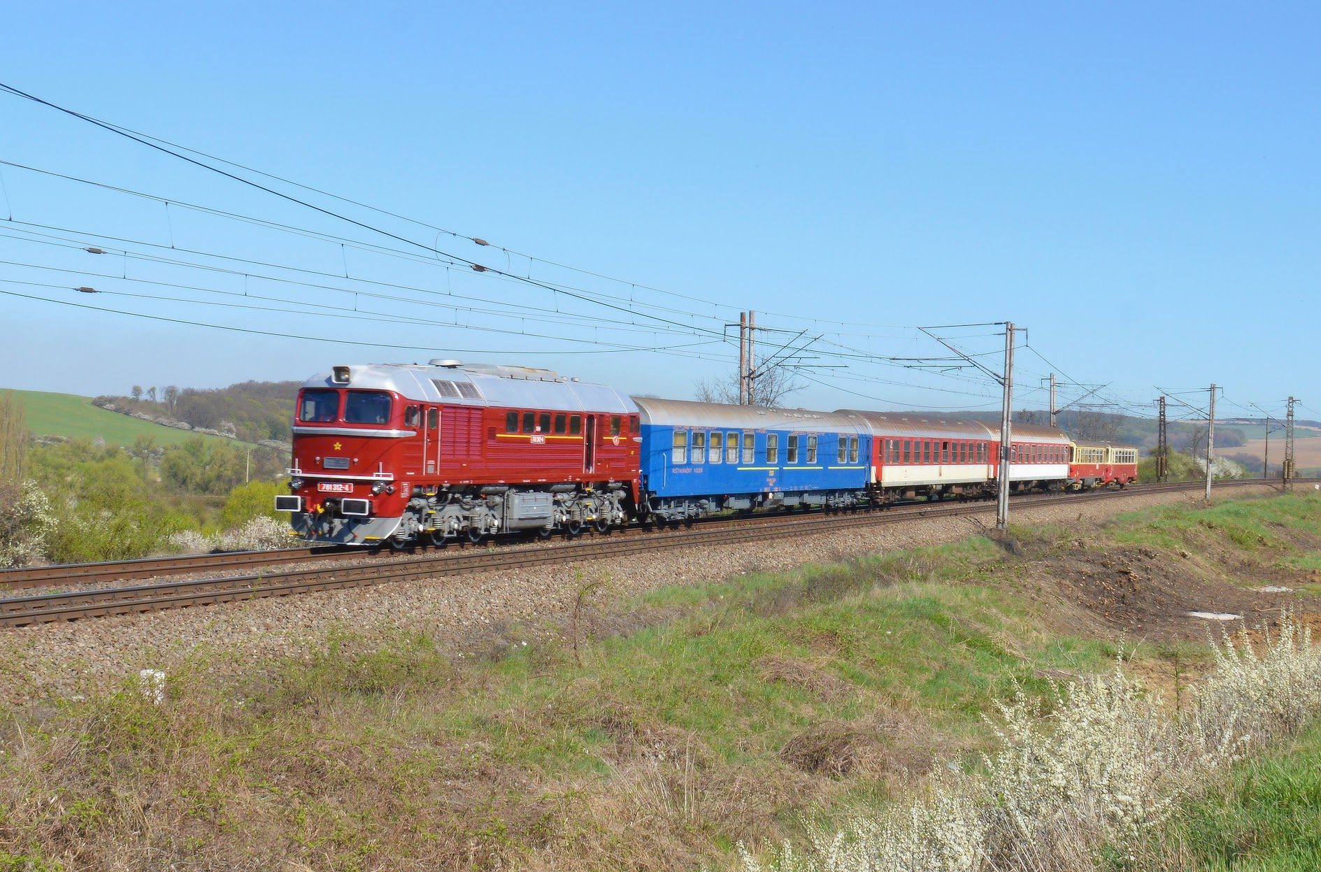 Fotografia Sergeja s mimoriadným vlakom. Autor: František Takáč