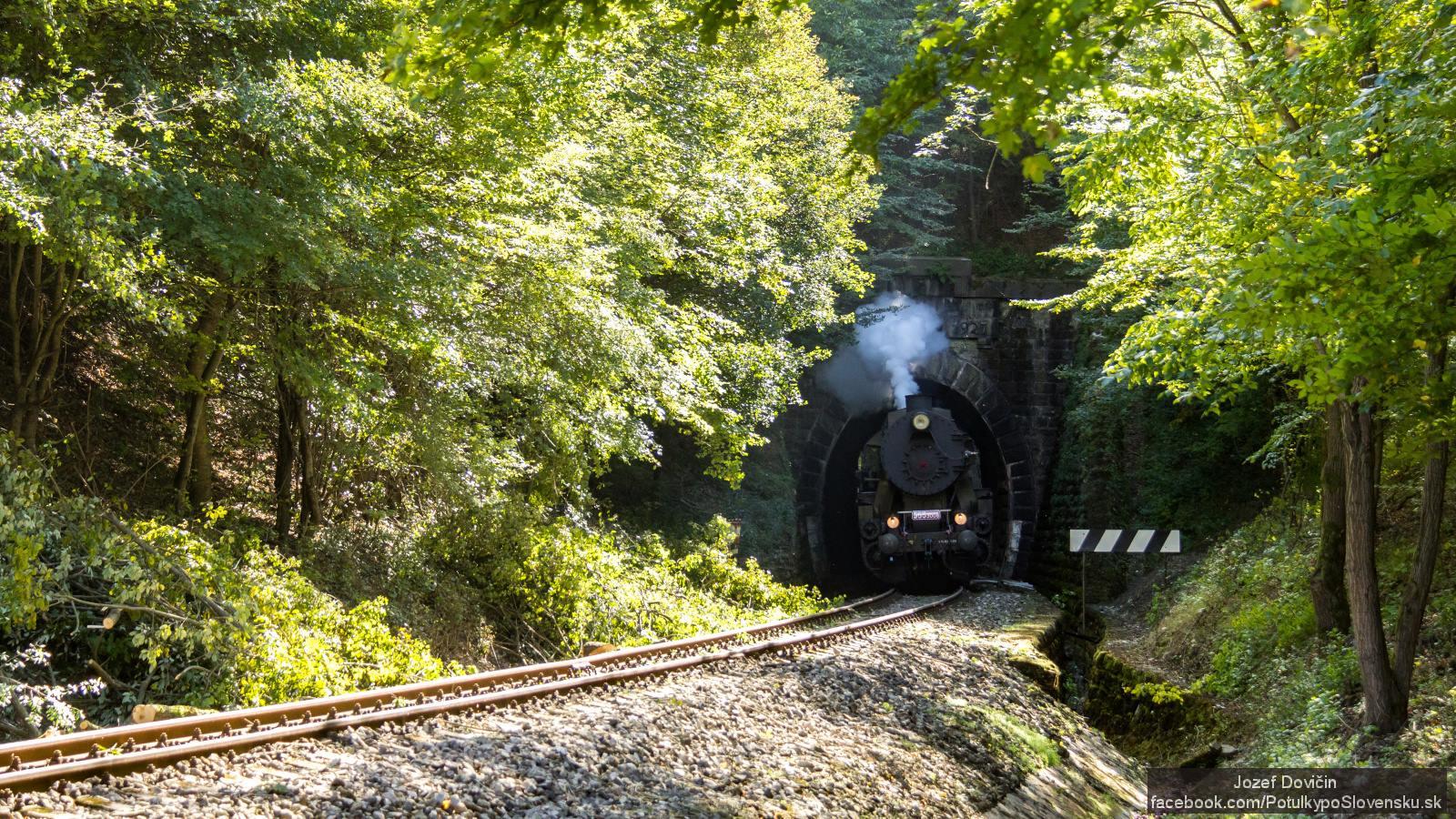 Parný vlak Mazutka -tunel pred Vrbovcami