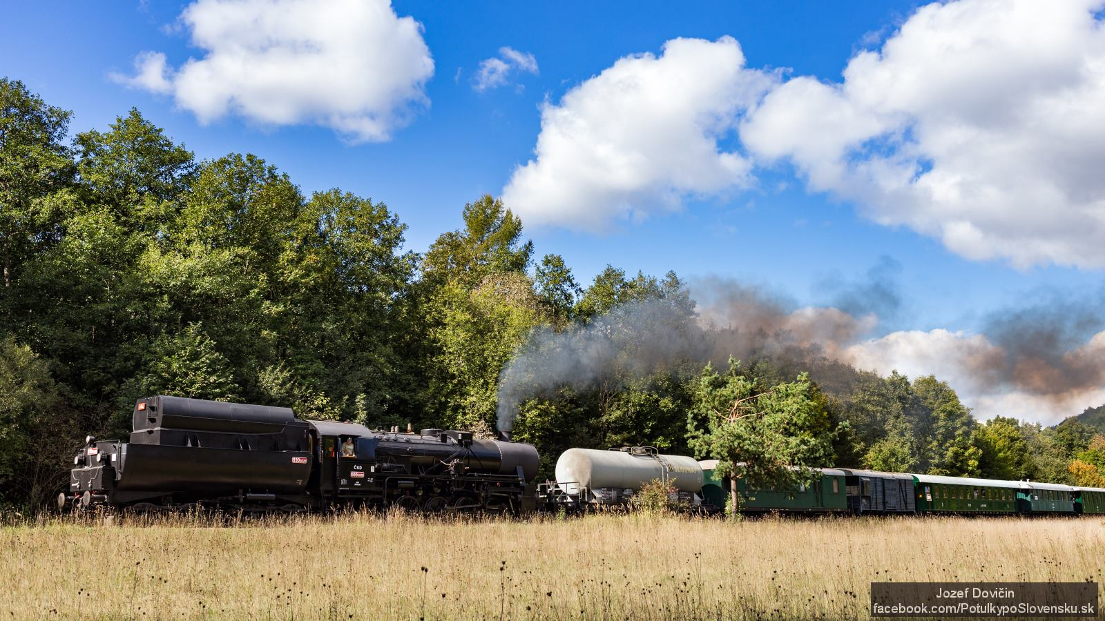 Parný vlak Mazutka pred Vrbovcami