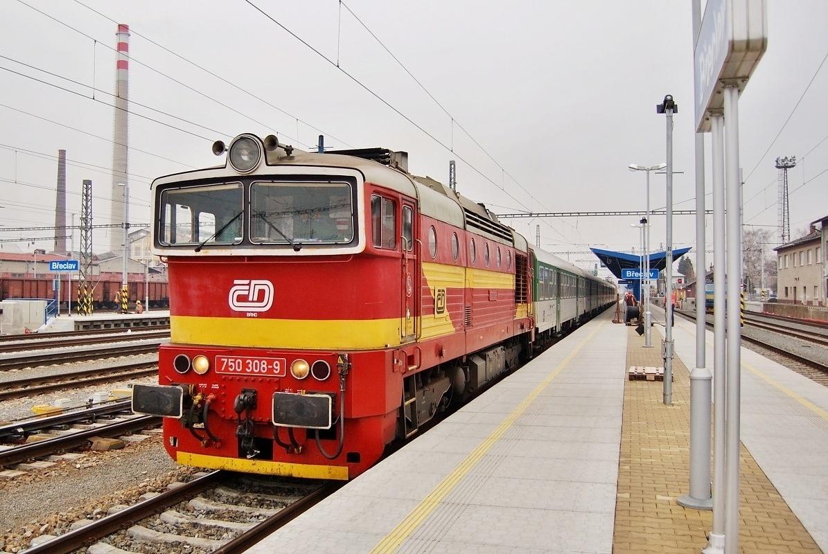 750.308 operovala dne 27.01.2009 v břeclavském nádraží