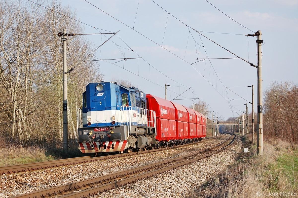 740.870 veze nové vozy kolem Brodského dne 04.04.2009 jako Pn 44810