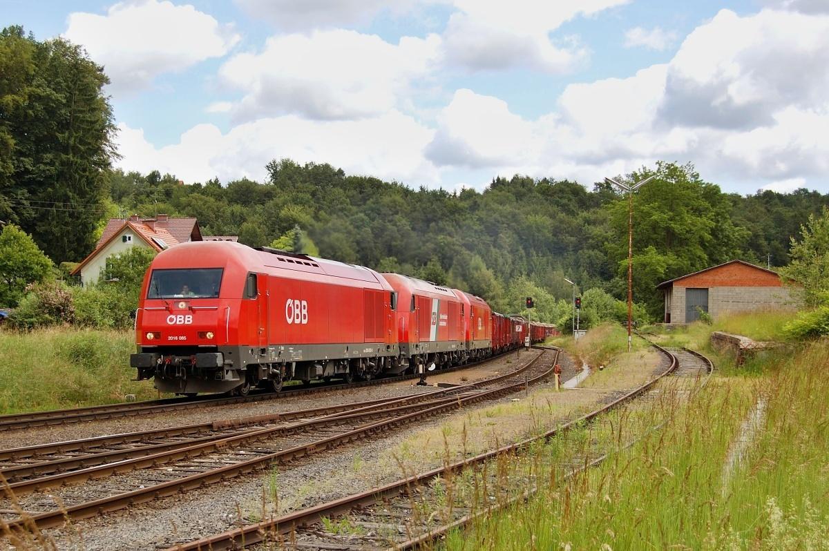 Trojice Herkulesů 2016.081+901+095 projíždí stanicí Lassnitzhohe dne 08.06.2009