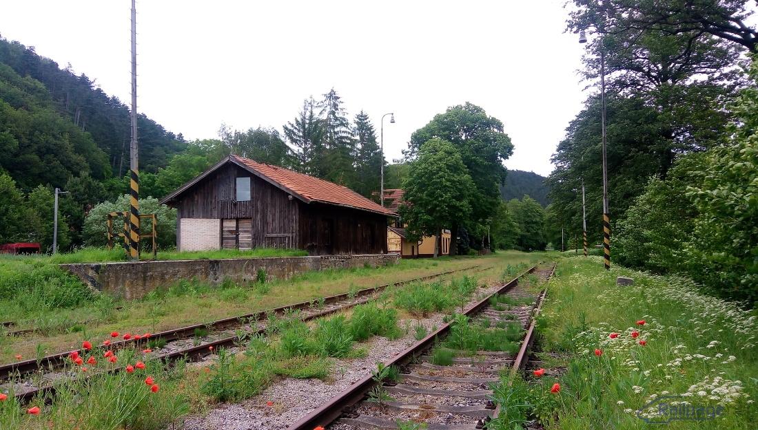 Ťažko uveriť faktu, že už viac ako desať rokov tu nie je prevádzkovaná pravidelná doprava, či osobná alebo nákladná. Stanica vyzerá, ako keby päť minút pred urobením tejto snímky práve odišiel vlak...