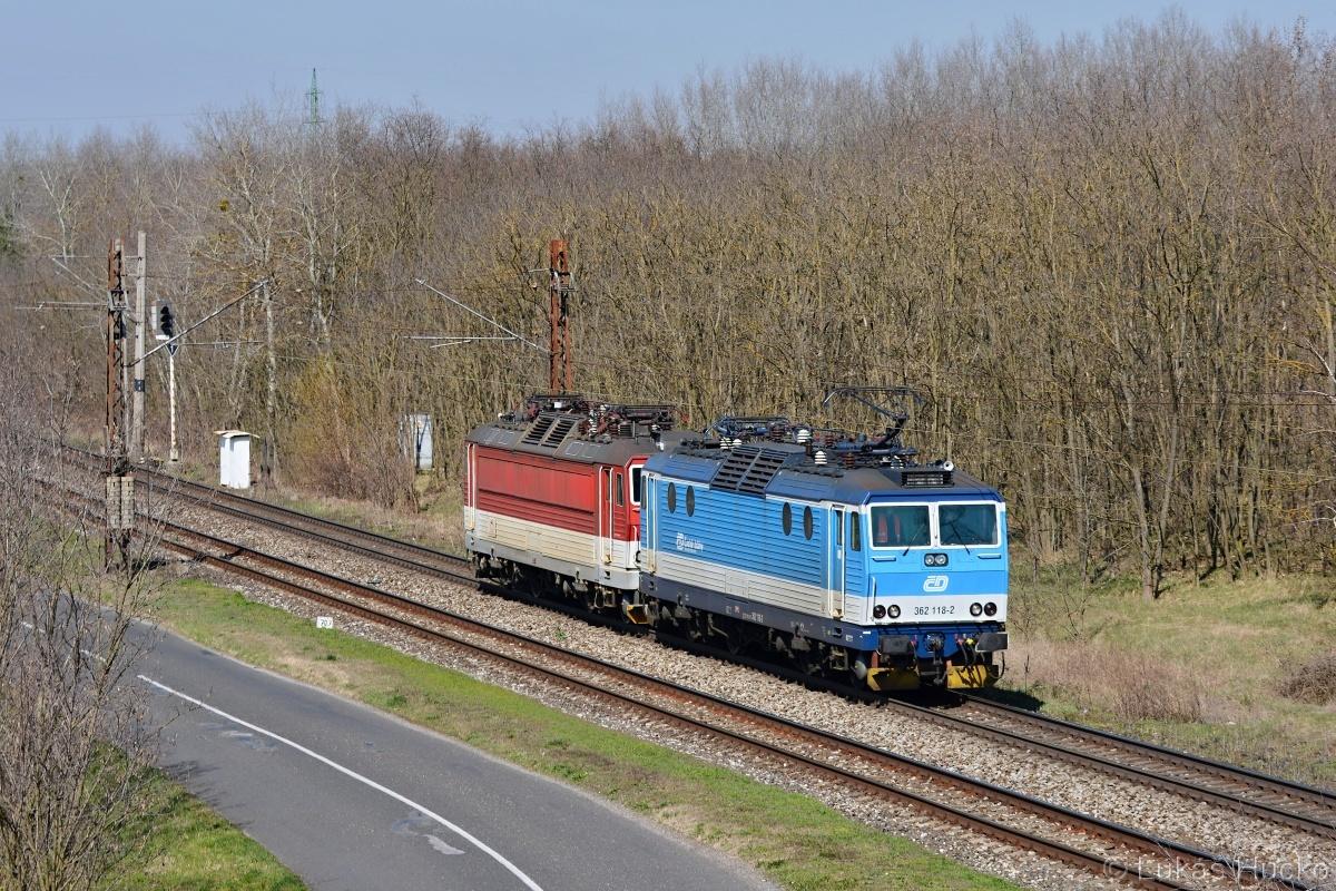 Přetah stroje 362.003 do Bratislavy v režii 362.118, Brodské 24.03.2020