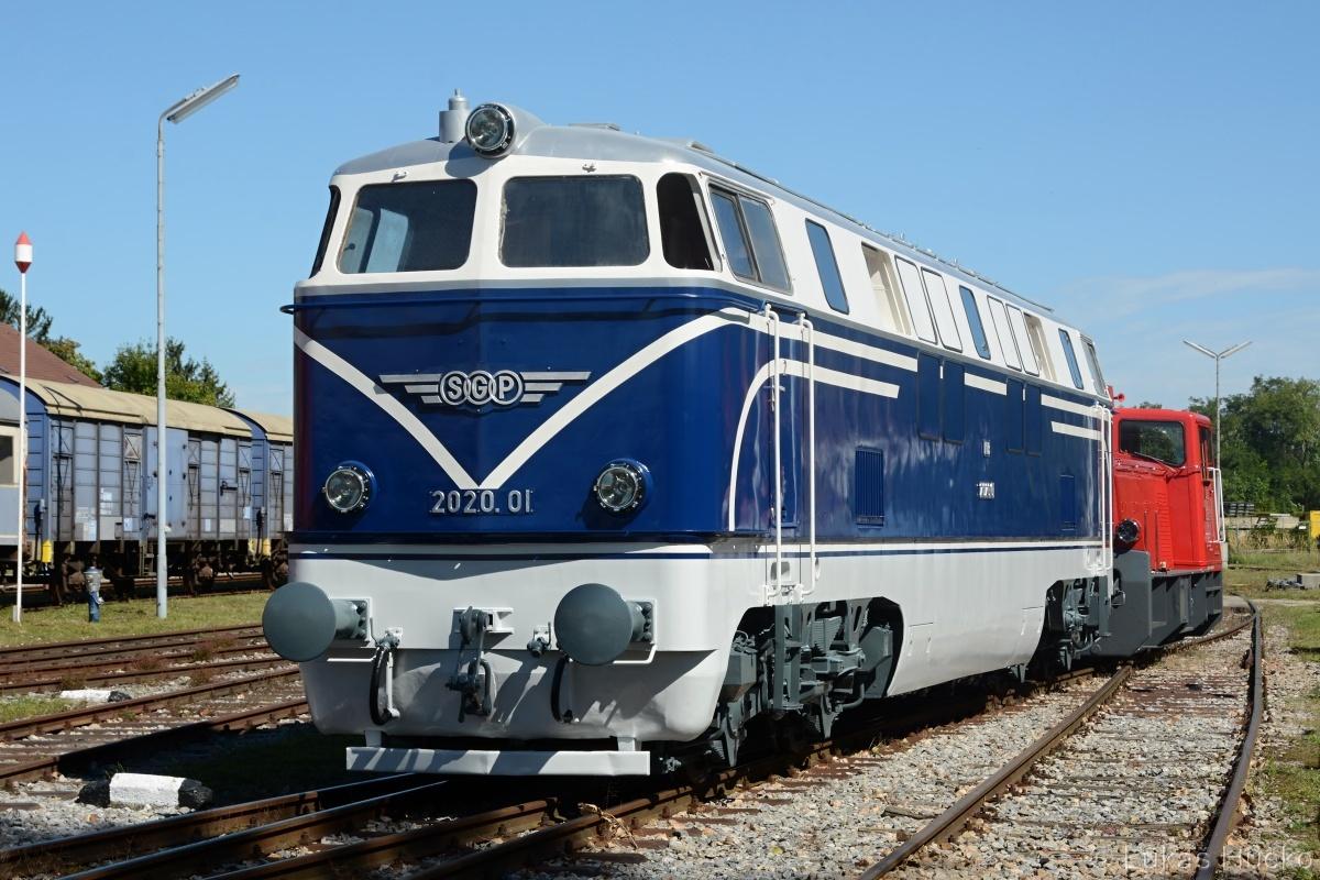 Rok 2020 byl znovuzrozením stroje 2020.01. Je to kus železniční historie Rakouska a tak byla oslava 60 let tohoto stroje pojata velkolepě. Mistelbach 05.09.2020