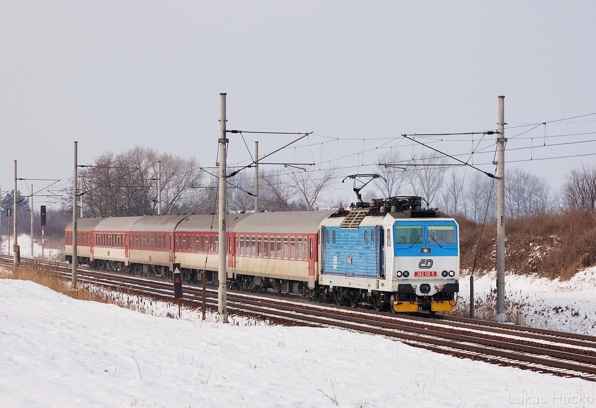 362.112 v čele EC 136 zachycen u Hrušek 30.01.2011