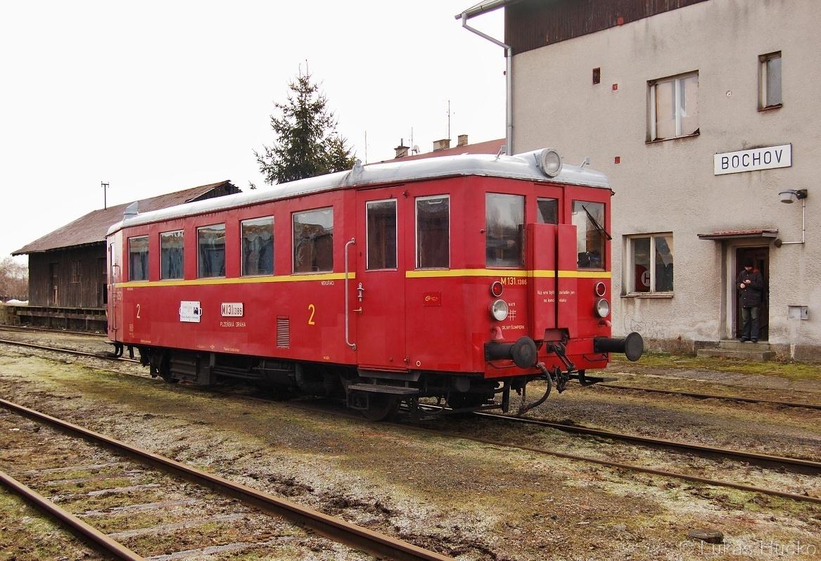 Na druhém konci trati M131.1386 v Bochově 12.02.2011