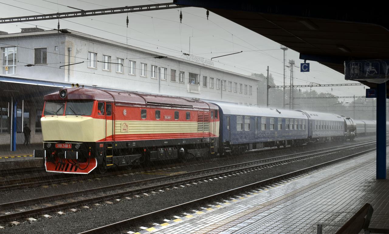 7. Požiarny vlak v lejaku