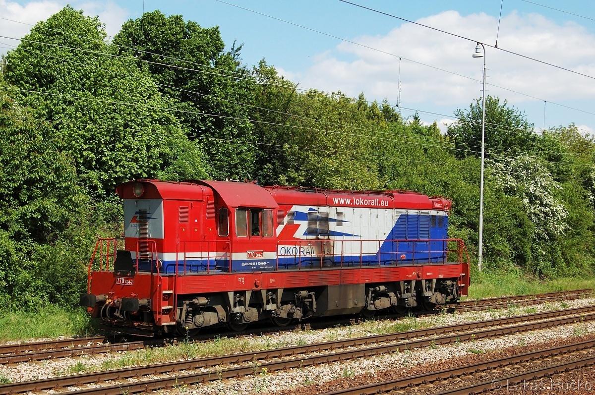 Tehdy cestou z práce zachycený čmelák 770.604 ve stanici Bratislava Lamač 05.05.2011